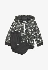 adidas Performance - BADGE OF SPORT ALLOVER PRINT JOGGER SET - Dres - black - 0