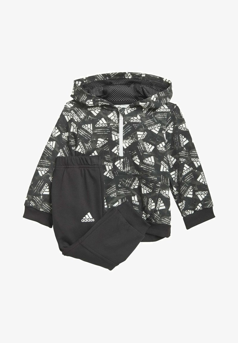 adidas Performance - BADGE OF SPORT ALLOVER PRINT JOGGER SET - Dres - black