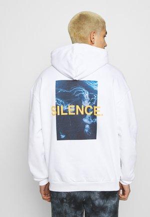 SILENCE WAVES HOODIE - Felpa - white
