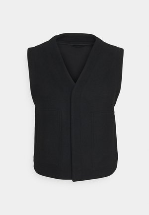 LUCA VEST - Waistcoat - black