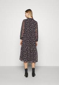 Vero Moda - VMFILIA TIE CALF DRESS - Day dress - black/rose - 2