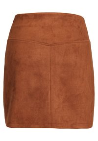 WE Fashion - MET SIERKNOOPSLUITING - A-line skirt - brown - 1