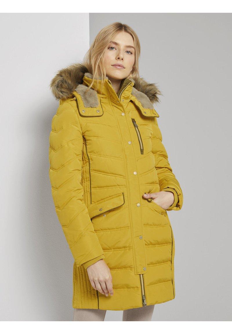 TOM TAILOR - SIGNATURE PUFFER COAT - Winter coat - california sand yellow