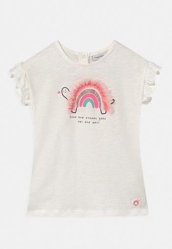 APPLICATION - Print T-shirt - bright white