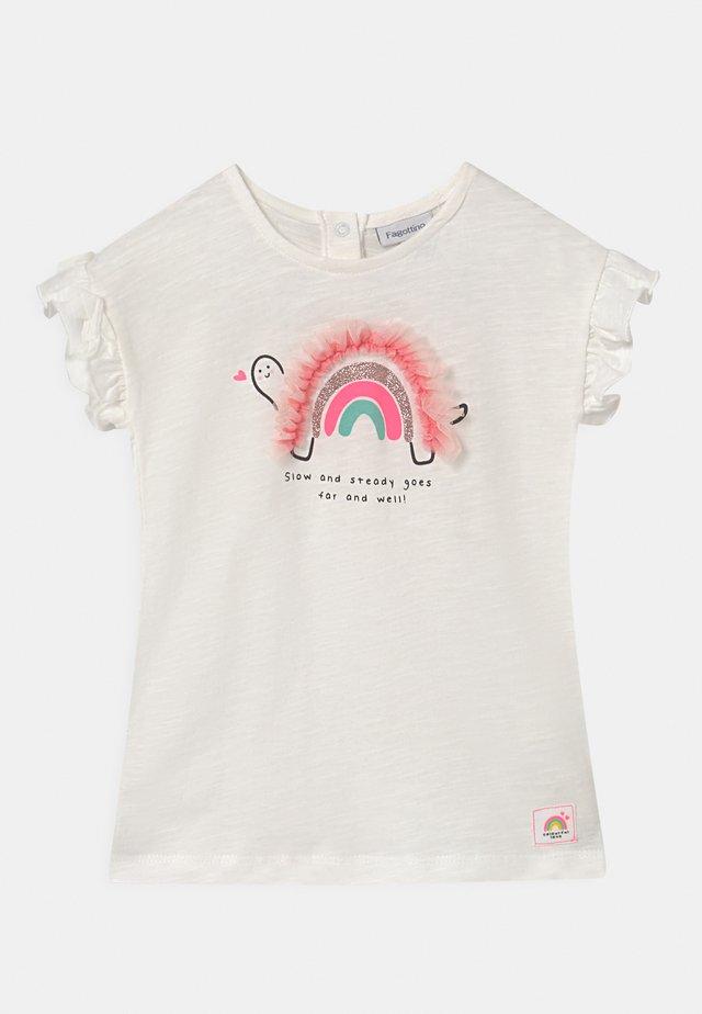 APPLICATION - T-shirt imprimé - bright white
