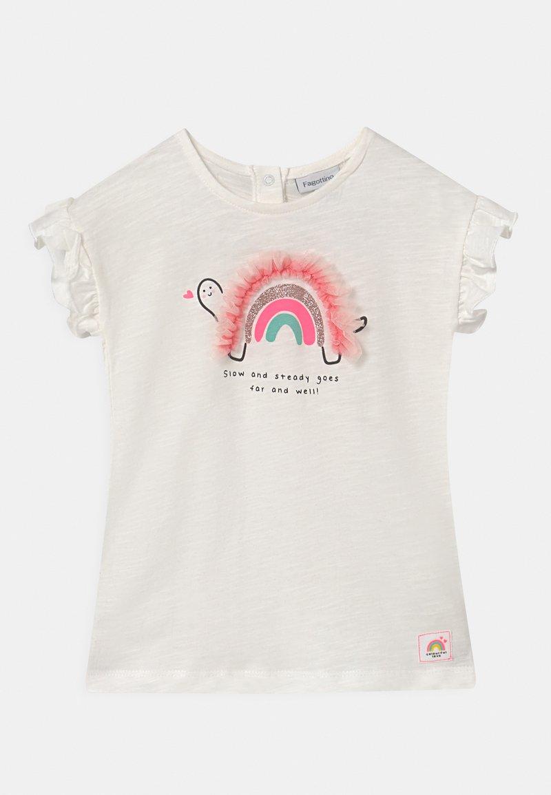 OVS - APPLICATION - Print T-shirt - bright white