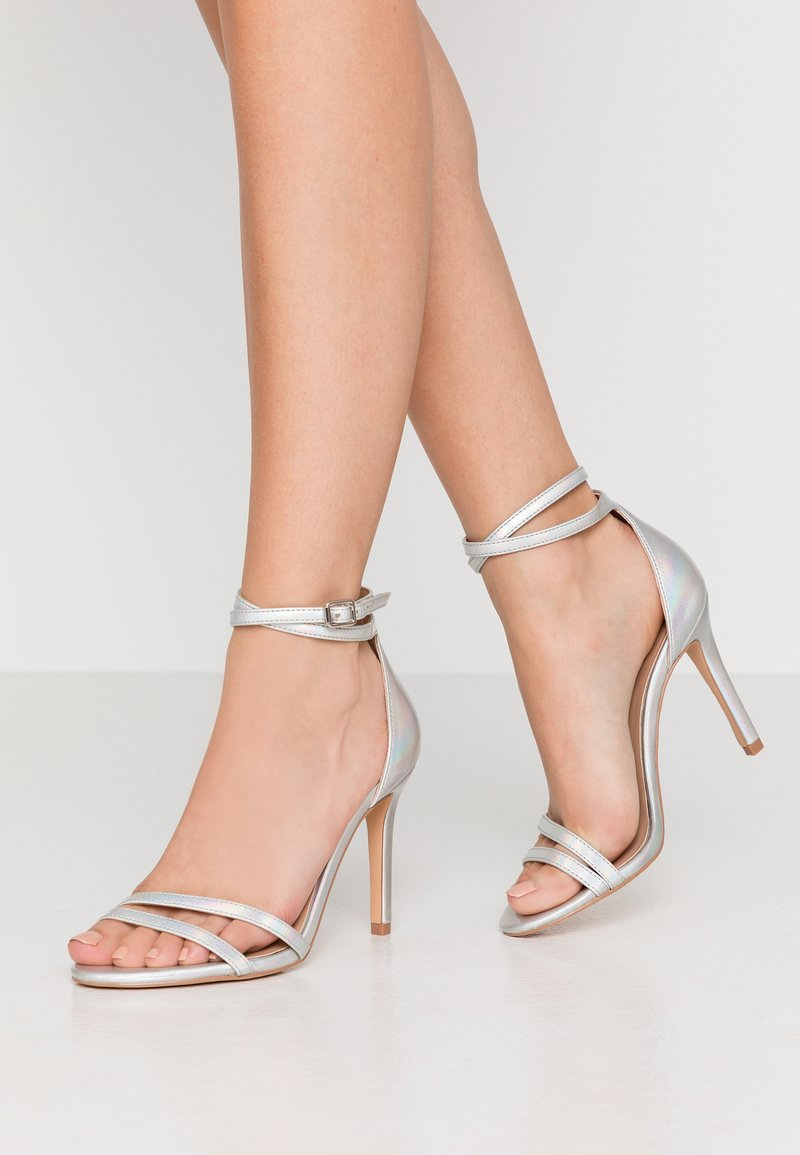 ONLY SHOES - ONLAILA WRAP - Sandali con tacco - silver
