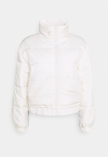 CROPPED PUFFER JACKET - Light jacket - off white