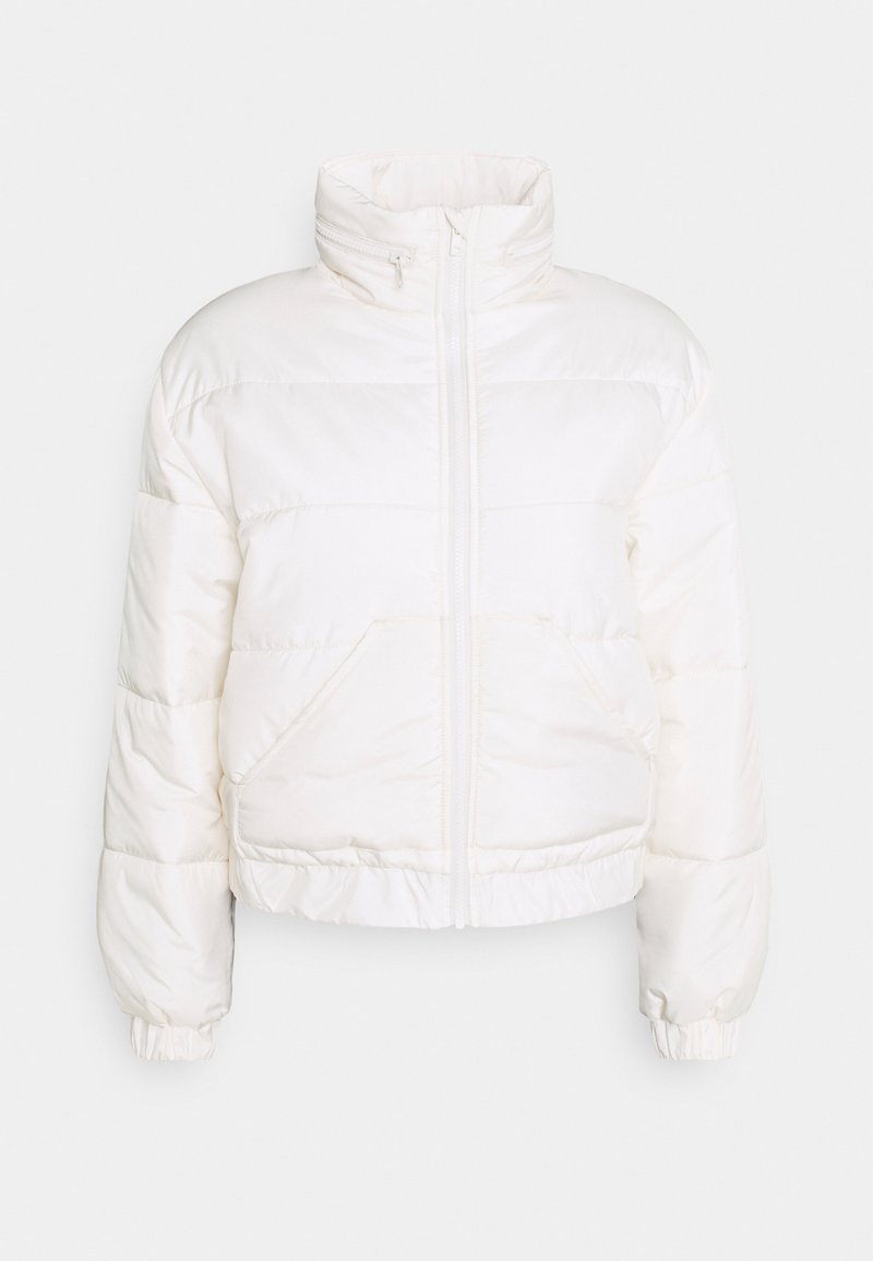 NU-IN - CROPPED PUFFER JACKET - Light jacket - off white