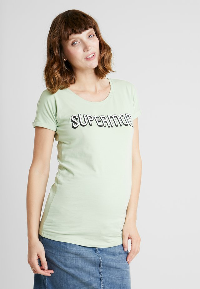 TEE - T-shirts med print - smoke green