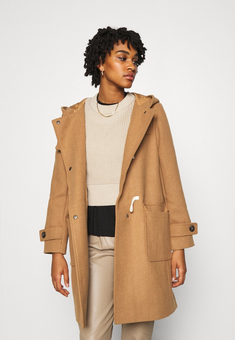 Nümph - NUBOFLE JACKET - Classic coat - coconut