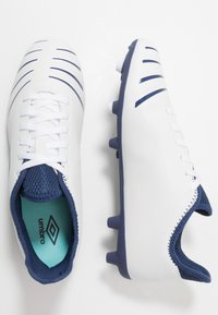 Umbro - UX ACCURO III CLUB FG - Moulded stud football boots - white/medieval blue/blue radiance - 1