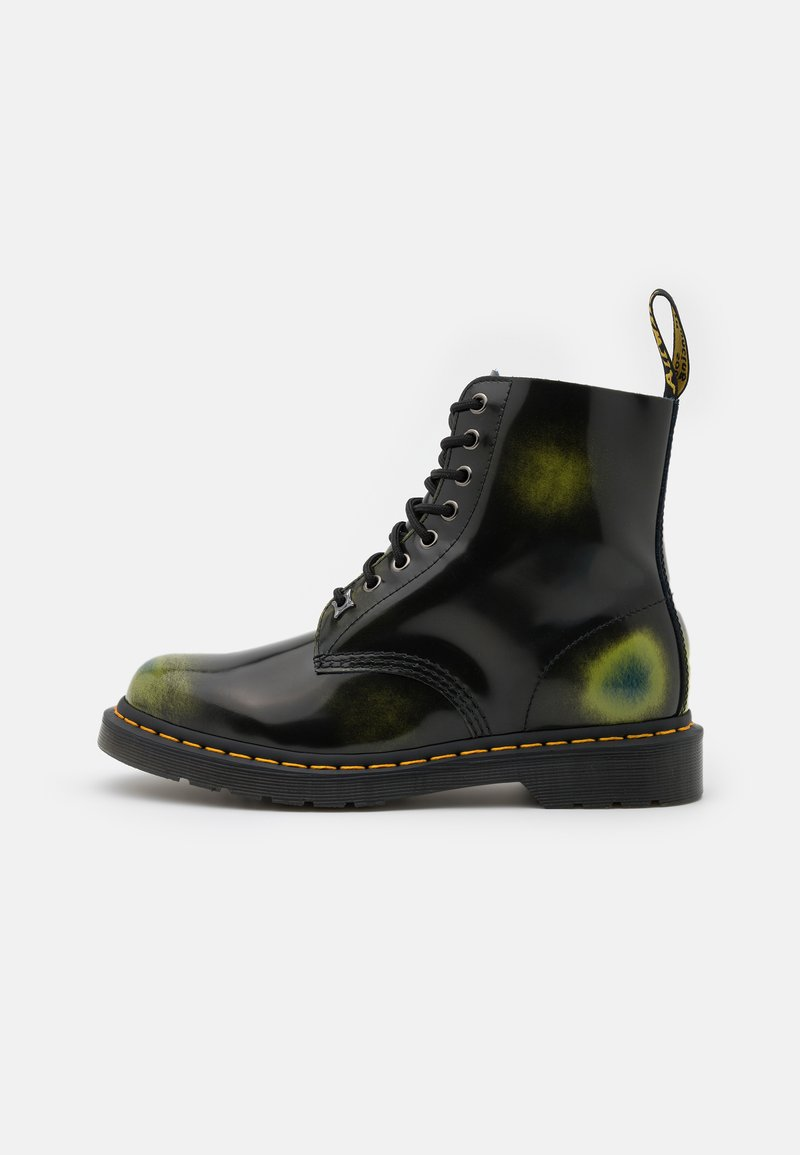Dr. Martens - 1460 PASCAL 8 EYE BOOT UNISEX - Veterboots - black/marsh green/dark teal/multicolor arcadia