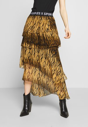 JUPE - A-line skirt - brown