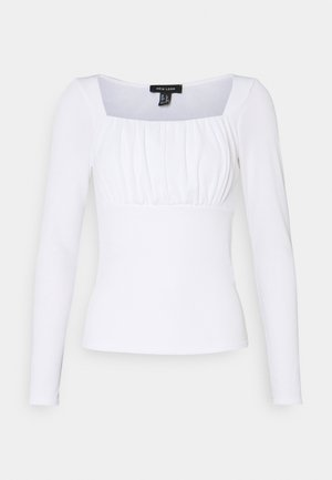 SLEEVE ROUCHED BUST NECK - Top s dlouhým rukávem - cream
