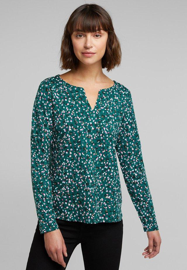 T-shirt à manches longues - dark teal green
