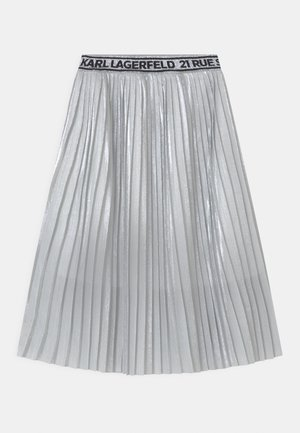 Pleated skirt - light grey