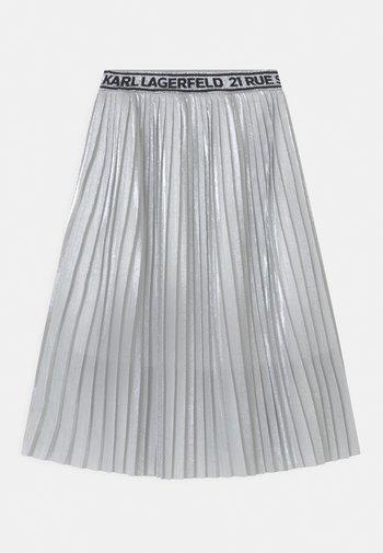 Pleated skirt - light grey