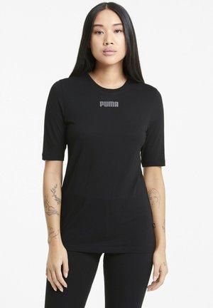 MODERN - Print T-shirt - puma black