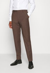 Calvin Klein Tailored - TROPICAL STRETCH SUIT - Suit - brown - 5