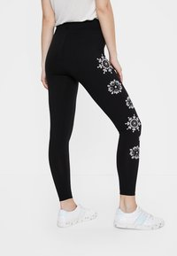 Desigual - MANDALA SWISS EMBRO - Leggings - Trousers - black - 2