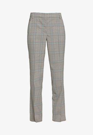 CINGHIA - Pantalon classique - galles bianco/nero/marrone