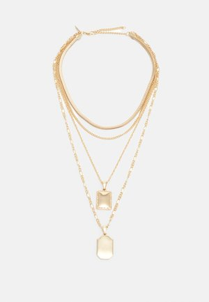 DOUBLE TAG MIX CHAIN - Necklace - gold-coloured