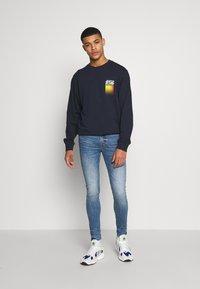 Jack & Jones - WANDER  CREW NECK - Sweatshirt - navy blazer - 1