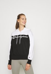 Champion - HOODED LEGACY - Jersey con capucha - black/white - 0