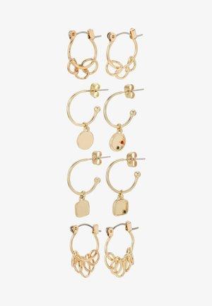 PCORINGA HOOP EARRINGS 4 PACK - Øredobber - gold-coloured