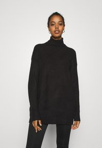 Nly by Nelly - LONG ROLL NECK  - Jumper - black - 0