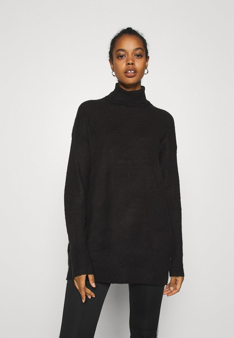 Nly by Nelly - LONG ROLL NECK  - Jumper - black