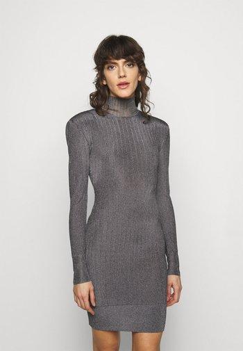 LONG SLEEVE DRESS - Pletené šaty - gunmetal