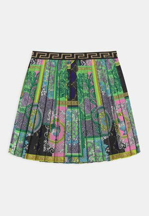 PATCHWORK HERITAGE ANIMALIER - Pleated skirt - multicolor