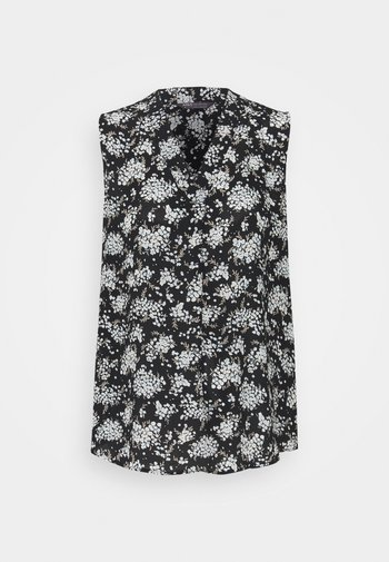 FLORAL SHELL - Top - black
