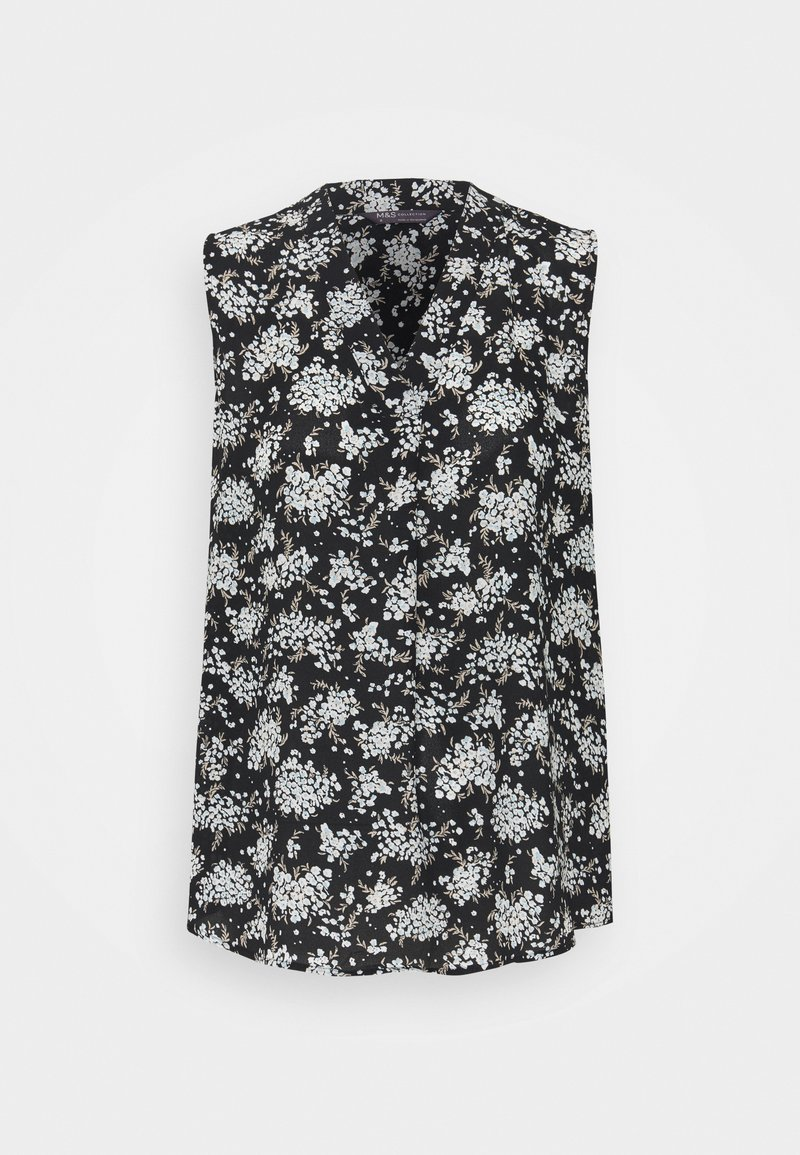 Marks & Spencer London - FLORAL SHELL - Top - black