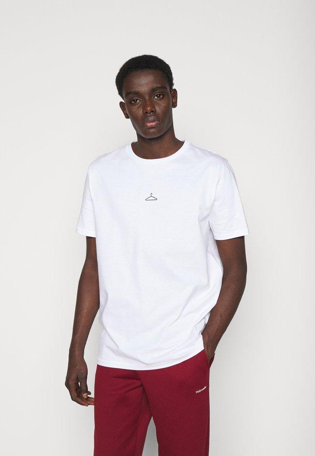HANGER TEE ADD ON - T-shirts med print - white/black