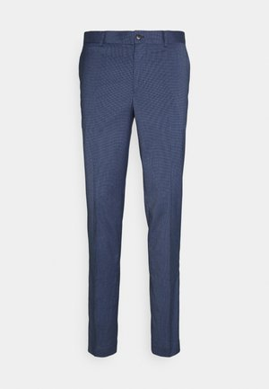 STRETCH GRID CHECK SUIT PANT - Trousers - navy