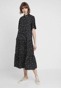 Topshop - SPOT PRINT CHUCK - Maxi dress - black - 0