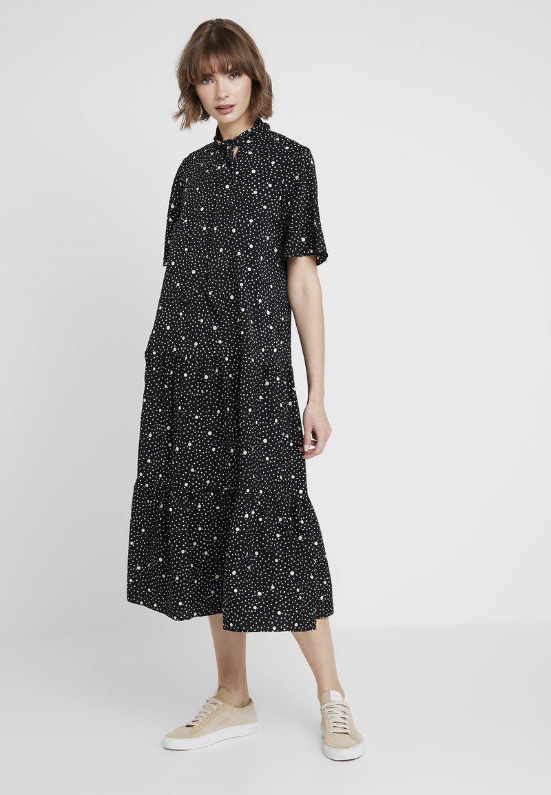 Topshop - SPOT PRINT CHUCK - Maxi dress - black