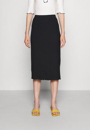 CHIODO - Pouzdrová sukně - black