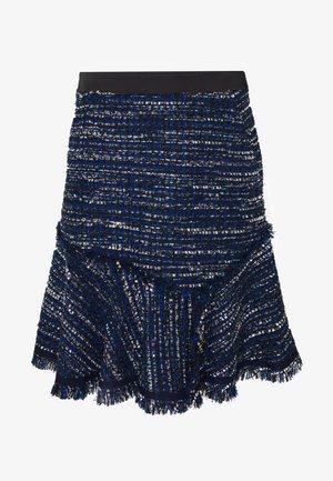 BLUE BOUCLE SKIRT - Áčková sukně - blue boucle