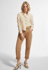 comma casual identity - Button-down blouse - off-white - 1