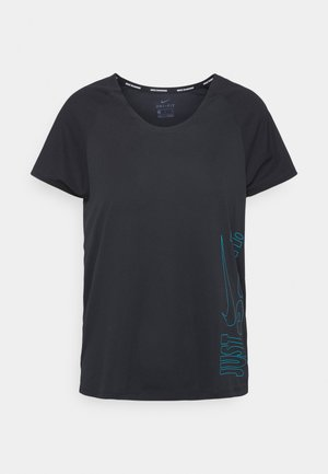 ICON CLASH MILER  - T-Shirt print - black/chlorine blue