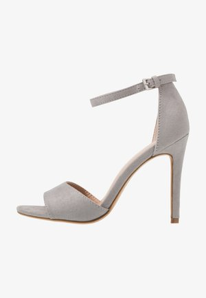 High Heel Sandalette - light grey