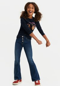 WE Fashion - Flared Jeans - dark blue - 1