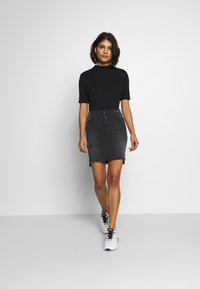 LTB - MIRAH - Denimová sukně - black denim - 1