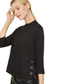 comma - PONTE  - Long sleeved top - black - 2