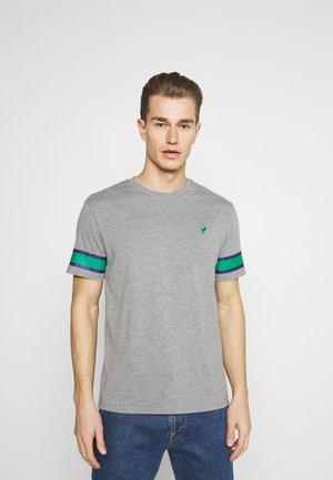 T-shirt med print - grey/green