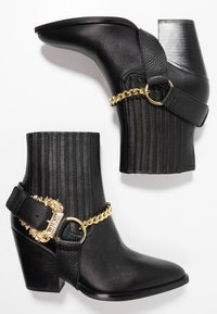 Versace Jeans Couture - Cowboy/biker ankle boot - nero - 3